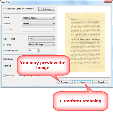 Perform Scanning